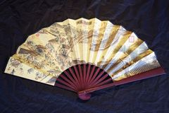 Traditional Chinese Paper folding fan Royalty Free Stock Images