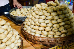 Traditional Chinese Pastry. Traditional freshly made Chinese pastry kiosk in China Royalty Free Stock Photos