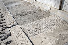 Free Traditional Chinese Patterns With Dragons On Ancient Stone Steps. Imperial Palace, Beijing Stock Image - 162749121