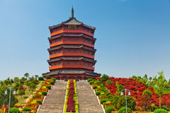 Traditional Chinese pavilion stock photo