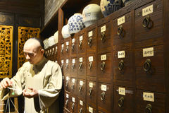 traditional  Chinese pharmacy Royalty Free Stock Photography