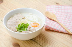 Traditional chinese porridge rice gruel in bowl, congee. Traditional chinese porridge rice gruel in bowl stock photography