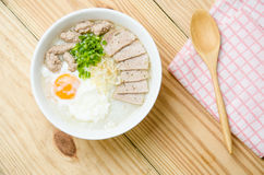 Traditional chinese porridge rice gruel in bowl, congee. Traditional chinese porridge rice gruel in bowl stock images