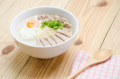 Traditional chinese porridge rice gruel in bowl, congee. Traditional chinese porridge rice gruel in bowl Stock Photo