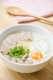 Traditional chinese porridge rice gruel in bowl, congee. Traditional chinese porridge rice gruel in bowl royalty free stock photography
