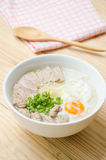 Traditional chinese porridge rice gruel in bowl, congee. Traditional chinese porridge rice gruel in bowl royalty free stock images