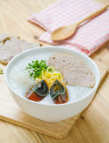 Traditional chinese porridge rice gruel in bowl, congee Stock Photos