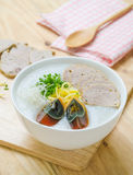 Traditional chinese porridge rice gruel in bowl, congee Royalty Free Stock Photo