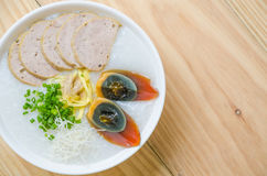 Traditional chinese porridge rice gruel in bowl, congee Royalty Free Stock Image
