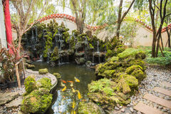 Traditional Chinese private garden Stock Image