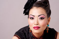 Traditional Chinese Qipao Model Royalty Free Stock Photography