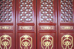 Traditional chinese red door of gugong Stock Photos