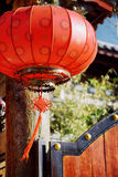 Traditional Chinese red lantern in the Old Town of Lijiang Stock Photo