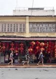 Traditional Chinese red lanterns for sale Stock Photos