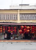 Traditional Chinese red lanterns for sale Royalty Free Stock Image