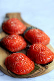 Traditional chinese red tortoise cake Stock Image