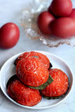Traditional chinese red tortoise cake Stock Images