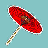 Traditional Chinese red umbrella Royalty Free Stock Image