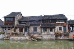 Traditional Chinese residential buildings in a water town Stock Photography