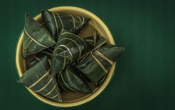 Traditional Chinese rice-pudding. Traditional cuisine from China.asian celebration chinese duanwu festive food glutinous meal rice zongzi Stock Images