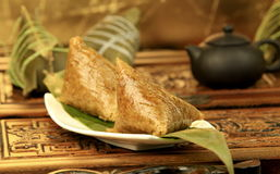 Traditional Chinese rice-pudding. Traditional cuisine from China.asian celebration chinese duanwu festive food glutinous meal rice zongzi Stock Photo