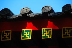 Traditional Chinese roof Stock Photography