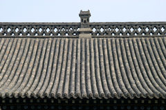 Traditional Chinese Roof with the blue sky Stock Photo