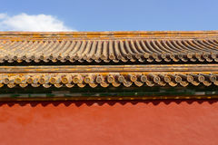 Traditional chinese roof detail Stock Photography