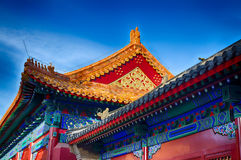 Traditional Chinese roof. National style. Ready bright banner. Royalty Free Stock Photo