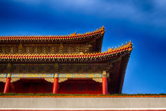 Traditional Chinese roof. National style. Ready bright banner. Stock Image