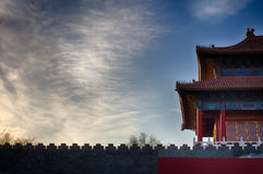 Traditional Chinese Roof. National Style. Ready Bright Banner. Royalty Free Stock Photos