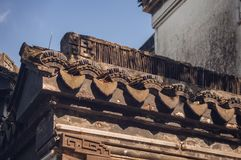 Traditional Chinese roof tiles detail Stock Photography