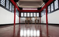 A traditional Chinese room at Dragon Gate royalty free stock image