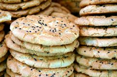 Traditional Chinese sesame biscuit Royalty Free Stock Photo