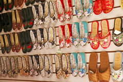 Traditional Chinese shoes Royalty Free Stock Images
