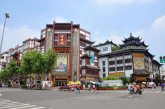 Traditional Chinese Shopping Mall, Shanghai, China Royalty Free Stock Photography