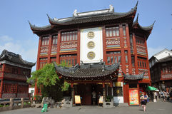 Traditional Chinese Shopping Mall, Shanghai, China Stock Photography