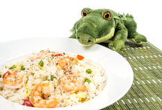 Traditional Chinese Shrimp Fried Rice Dish #2 Stock Photos