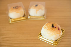 Traditional chinese snack of preserved egg cakes Royalty Free Stock Photo
