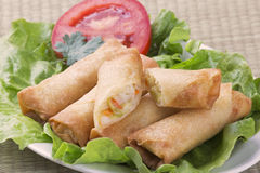 Traditional Chinese Spring Rolls Stock Photo