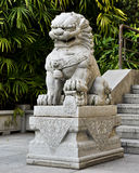 Traditional Chinese stone lion, Chinese guardian lion statue, Chinese imperial lion with oriental ancient style Stock Image