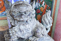 Traditional chinese stone lion. In temple Royalty Free Stock Image