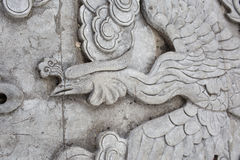 Traditional Chinese stone Phoenix  sculpture Stock Image