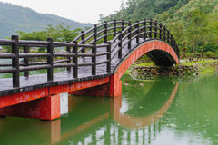 Traditional chinese style bridge in taiwan Stock Photo