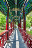 Traditional chinese  style corridor Stock Photos