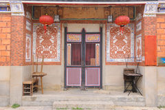 Traditional chinese-style house in Taiwan Royalty Free Stock Photos