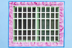 Traditional chinese style white window Royalty Free Stock Image