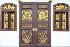 Traditional Chinese style wooden door Stock Photography