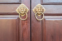 Traditional Chinese style wooden door Stock Photos