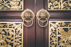 Traditional Chinese style wooden door Stock Image